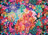 Interlitho, FANTASY, paintings, castle, horizon, KL, KL2330,#fantasy# illustrations, pinturas