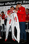 Real Madrid player Iker Casillas and F1 driver Marc Gene participate and receive new Audi during the presentation of Real Madrid's new cars made by Audi at the Jarama racetrack on November 8, 2012 in Madrid, Spain.(ALTERPHOTOS/Harry S. Stamper)