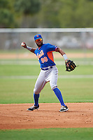 New York Mets Amed Rosario (99) during a minor league Spring Training game against the St. Louis Cardinals on March 31, 2016 at Roger Dean Sports Complex in Jupiter, Florida.  (Mike Janes/Four Seam Images)