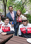 Ottawa ON - June 4 2014 - Brittany Hudak, Kirk Schornstein and guide Robin Femy pose with The Honourable Bal Gosal, Minister of State (Sport) during the Celebration of Excellence visiting Parliament Hill. (Photo: Matthew Murnaghan/Canadian Paralympic Committee)