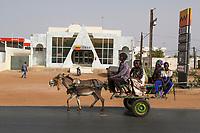 Senegal, Touba.  CBAO, a Private Bank Headquartered in Dakar.  (Compagnie Bancaire de l'Afrique Occidentale)