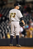 Trenton Thunder pitcher Josh Romanski #23 during a game against the Akron Aeros at Canal Park on July 26, 2011 in Akron, Ohio.  Trenton defeated Akron 4-3.  (Mike Janes/Four Seam Images)