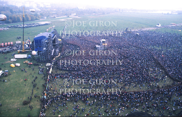 Various photographs of the crowd at Monsters of Rock Moscow 1991