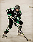 24 October 2015: University of North Dakota Defenseman Christian Wolanin, a Freshman from Rochester, MI, in third period action against the University of Vermont Catamounts at Gutterson Fieldhouse in Burlington, Vermont. North Dakota defeated the Catamounts 5-2 in the second game of their weekend series. Mandatory Credit: Ed Wolfstein Photo *** RAW (NEF) Image File Available ***