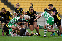 Lyric Faleafaga of the Wellington is tackled during the Farah Palmer Cup Rugby – Wellington v Manawatu at Sky Stadium, Wellington, New Zealand on Friday 25 September 2020. <br /> Photo by Masanori Udagawa. <br /> www.photowellington.photoshelter.com