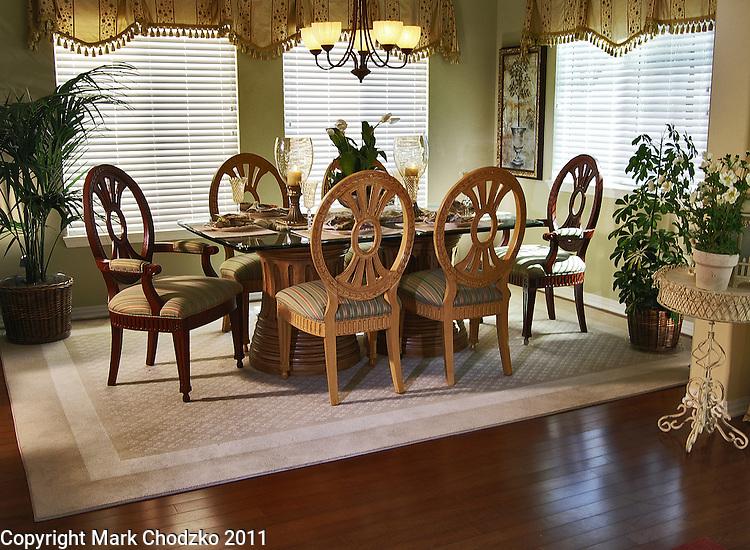 Interior new model home dining room for Anastasi Development.