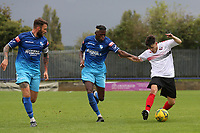 Brad Santos of Lewes and Suleiman Bakalandwa of Wingate & Finchley during Wingate & Finchley vs Lewes, Pitching In Isthmian League Premier Division Football at the Maurice Rebak Stadium on 3rd October 2020