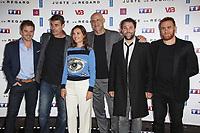 RENAUD LEYMANS, THIERRY NEUVIC, VIRGINIE LEDOYEN, HARLAN COBEN, ARTHUR JUGNOT, MICHAEL ABITEBOUL - PHOTOCALL 'JUSTE UN REGARD' AU CINEMA GAUMONT MARIGNAN A PARIS, FRANCE, LE 11/05/2017.