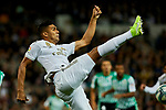 Carlos Henrique Casimiro of Real Madrid and XXX of Real Betis Balompie during La Liga match between Real Madrid and Real Betis Balompie at Santiago Bernabeu Stadium in Madrid, Spain. November 02, 2019. (ALTERPHOTOS/A. Perez Meca)