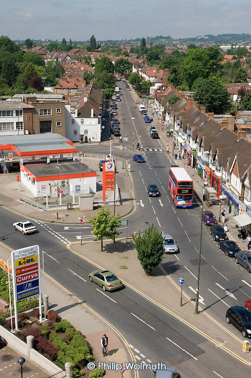 Shops and housing in Wembley, North London