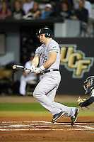 Siena Saints designated hitter Alex Brickman (25) at bat during a game against the UCF Knights on February 17, 2017 at UCF Baseball Complex in Orlando, Florida.  UCF defeated Siena 17-6.  (Mike Janes/Four Seam Images)