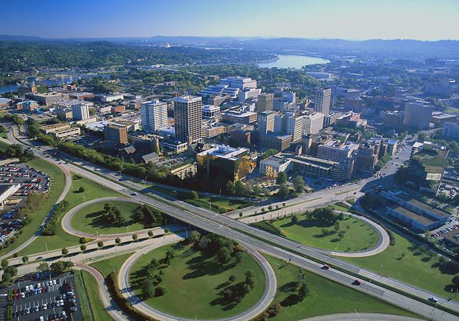 Downtown Chattanooga over highway 27 interchange