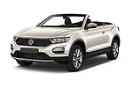 2020 Volkswagen T-Roc Style 5 Door SUV Angular Front automotive stock photos of front three quarter view