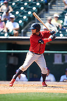 Columbus Clippers outfielder James Ramsey (10) at bat during a game against the Buffalo Bisons on July 19, 2015 at Coca-Cola Field in Buffalo, New York.  Buffalo defeated Columbus 4-3 in twelve innings.  (Mike Janes/Four Seam Images)