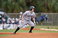 Edgewood Eagles shortstop Ryan Fields (9) during the first game of a double header against the Bethel Wildcats on March 15, 2019 at Terry Park in Fort Myers, Florida.  Bethel defeated Edgewood 6-0.  (Mike Janes/Four Seam Images)