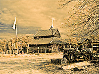 Allis-Chalmers tractor and barn