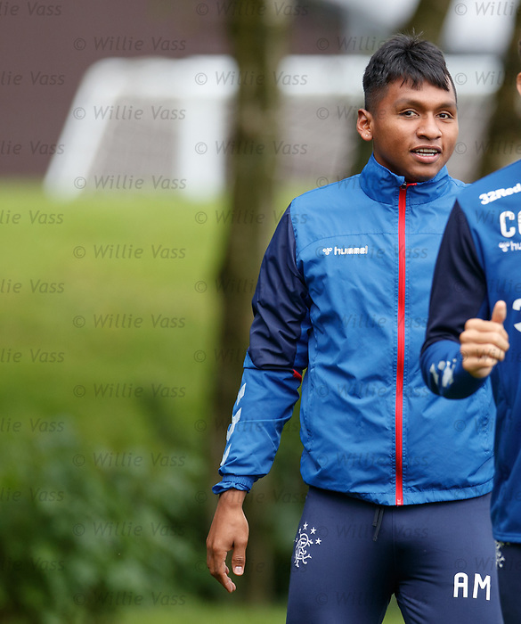 26.09.2018 Rangers training: Alfredo Morelos