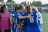 Allston, MA - Saturday August 19, 2017: Morgan Andrews, Julie King, Rosie White, Amanda DaCosta during a regular season National Women's Soccer League (NWSL) match between the Boston Breakers and the Orlando Pride at Jordan Field.