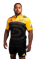 Ngani Laumepe. Hurricanes Super Rugby official headshots at Rugby League Park, Wellington, New Zealand on Wednesday, 6 January 2016. Photo: Dave Lintott / lintottphoto.co.nz