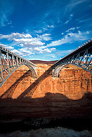 Old and new Navajo Bridges over Colorado River, Marble Canyon, Arizona