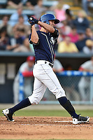 Asheville Tourists center fielder David Dahl #21 swings at a pitch during a game against the Lakewood BlueClaws at McCormick Field on May 3, 2014 in Asheville, North Carolina. The BlueClaws defeated the Tourists 7-4. (Tony Farlow/Four Seam Images)