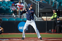 CamMcDonald (4) of the Illinois Fighting Illini at bat against the Coastal Carolina Chanticleers at Springs Brooks Stadium on February 22, 2020 in Conway, South Carolina. The Fighting Illini defeated the Chanticleers 5-2. (Brian Westerholt/Four Seam Images)
