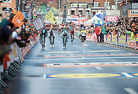 Wout Poels (NLD/SKY) and  Michael Albasini (SUI/Orica-GreenEDGE) sprinting to the finish<br /> <br /> 102nd Liège-Bastogne-Liège 2016