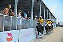 MIAMI BEACH, FL - APRIL 25: Delfina Blaquier (L), Nacho Figueras, Melissa Ganzi, Alejandro Novillo Astrada and Philip de Groot attend The World Polo League Beach Polo Miami Beach on April 25, 2021 in Miami Beach, Florida.  ( Photo by Johnny Louis / jlnphotography.com )