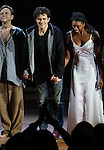 """Brent Carver, Orlando Bloom and Condola Rashad during the """"Romeo And Juliet"""" On Broadway First Performance Curtain Call at the Richard Rodgers Theatre in New York City on 8/24/2013"""