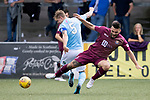 Forfar v St Johnstone…28.07.18…  Station Park    Betfred Cup<br />Tony Watt is fouled by Michael Travis<br />Picture by Graeme Hart. <br />Copyright Perthshire Picture Agency<br />Tel: 01738 623350  Mobile: 07990 594431