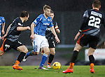 St Johnstone v Kilmarnock....09.01.16  Scottish Cup  McDiarmid Park, Perth<br /> David Wotherspoon is closed down by Conrad Balatoni<br /> Picture by Graeme Hart.<br /> Copyright Perthshire Picture Agency<br /> Tel: 01738 623350  Mobile: 07990 594431