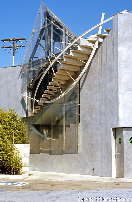 Eric Owen Moss: 8522 National Bldg., Culver City. Detail. Photo 1999.