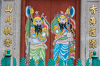 George Town, Penang, Malaysia.  Temple Guardians of a Chinese Taoist Temple.
