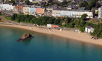 "Pictured: The row of properties where Croft House is located in Tenby, west Wales.<br /> Re: A holiday home where Beatrix Potter drew parts of The Tale of Peter Rabbit is up for sale.<br /> The renowned author wrote a letter from the seaside home in Tenby, Pembrokeshire, in 1900 telling tales of rabbits living in the cliffs.<br /> She was also inspired by the garden of the Grade II-listed Georgian property and painted a lily pond that was used in the book.<br /> Croft House has been put on the market for £1.8m.<br /> The building was once split into two houses - with Potter staying at number two.<br /> Andrew Lowe, whose family have owned the property since 1964, said that in 1900 Ms Potter wrote four 'Tenby letters' to the children of governess Annie Moore.<br /> ""She also did two paintings of the garden of Croft House, no longer part of the property,"" he continued.<br /> ""The lily pond illustration that appears in The Tale of Peter Rabbit was taken from one of these paintings."""