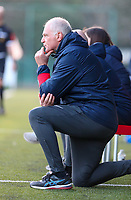 Head coach Guido Brepoels of KRC Genk pictured during a female soccer game between Oud Heverlee Leuven and Racing Genk on the 14 th matchday of the 2020 - 2021 season of Belgian Womens Super League , sunday 28 th of February 2021  in Heverlee , Belgium . PHOTO SPORTPIX.BE | SPP | SEVIL OKTEM