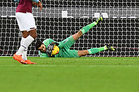 Lukasz Fabianski of West Ham United makes a save during West Ham United vs Aston Villa, Premier League Football at The London Stadium on 30th November 2020