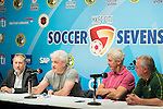 (L-R) Chris Plowman, Tournament Director of HKFC Citi Soccer Sevens, Kevin Keegan, former English football player, Terry McDermott, former Liverpool football player, and Steve Dale, chairman of Wallsend Boys Club, attend the press conference for the HKFC Citi Soccer Sevens Hong Kong 2017 at the Hong Kong Football Club on 07 February 2017 in Hong Kong, China. Photo by Victor Fraile / Power Sport Images