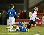 Bilel Mohsni goes down at the final whistle