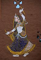 Indien, Udaipur, Wandbild