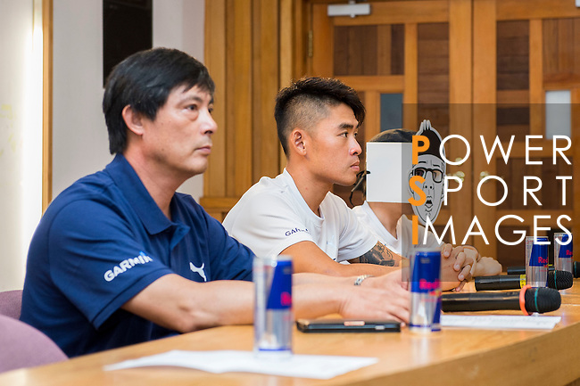 Sin Yi Chen, Duncan and Sam Hsien attends the press conference prior to the Wings for Life World Run on May 3, 2015 in Yilan, Taiwan. Photo by Victor Fraile / Power Sport Images