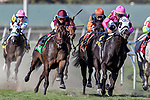 HALLANDALE BEACH, FL - MAR 3:Hogy #6 trained Michael J. Maker with Irad  Ortiz, Jr. overtakes the lead along the final turn on the way to winning  the Canadian Turf Stakes (G3) at Gulfstream Park on March 3, 2018 in  Hallandale Beach, Florida. (Photo by Bob Aaron/Eclipse Sportswire/Getty  Images)