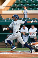 Isaias Velasquez (5) of the Charlotte Stone Crabs during a game vs. the Lakeland Flying Tigers May 11 2010 at Joker Marchant Stadium in Lakeland, Florida. Charlotte won the game against Lakeland by the score of 3-0.  Photo By Scott Jontes/Four Seam Images