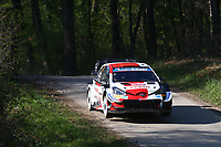 23rd April 2021; Zagreb, Croatia; WRC Rally of Croatia, stages 1-8;  Sebastien Ogier-Toyota Yaris WRC