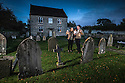 22/10/16 <br /> <br /> Amy and Geoff Cotterell with their baby Harriet, outside the spookiest house in Britain.<br /> <br /> As Halloween approaches, and the nights draw in, it may send a shiver down your spine just walking over 'Hanging Bridge', strolling along Hollow Lane before spotting the sign for Gallowstree Lane.<br /> Full story here:<br /> <br /> https://fstoppressblog.wordpress.com/would-you-dare-to-trick-or-treat-this-house/<br /> <br /> But it's not just these creepy road names that will make the hair on the back of your neck stand up as one of the homes in Gallowstree Lane is set in the middle of a very spooky graveyard.<br /> <br /> The house, situated in the heart of Upper Mayfield village on the edge of the Staffordshire Moorlands, comes complete with creaking wrought iron gate and used to be a Wesleyan Methodist church.<br /> <br /> That was before Geoff and Amy Cotterell bought it in 2006, with a view to making it a comfortable family home, appropriately named The Old Chapel.<br /> <br /> All Rights Reserved: F Stop Press Ltd. +44(0)1773 550665   www.fstoppress.com