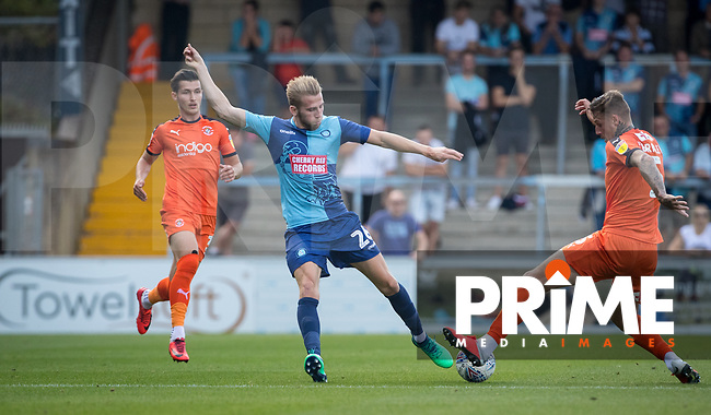 Jason McCarthy of Wycombe Wanderers during the Sky Bet League 1 match between Wycombe Wanderers and Luton Town at Adams Park, High Wycombe, England on 1 September 2018. Photo by Andy Rowland.
