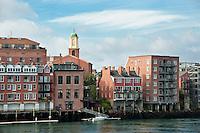 Waterfront architecture, Portsmith, New Hampshire, NH, USA