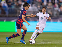 EAST HARTFORD, CT - JULY 1: Alex Morgan #13 of the USWNT dribbles the ball during a game between Mexico and USWNT at Rentschler Field on July 1, 2021 in East Hartford, Connecticut.