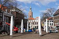 Nederland Den Haag -  maart 2021.  Grote Markt in Den Haag. Lockdown. Horeca is gesloten.  Foto  ANP / Hollandse Hoogte / Berlinda van Dam