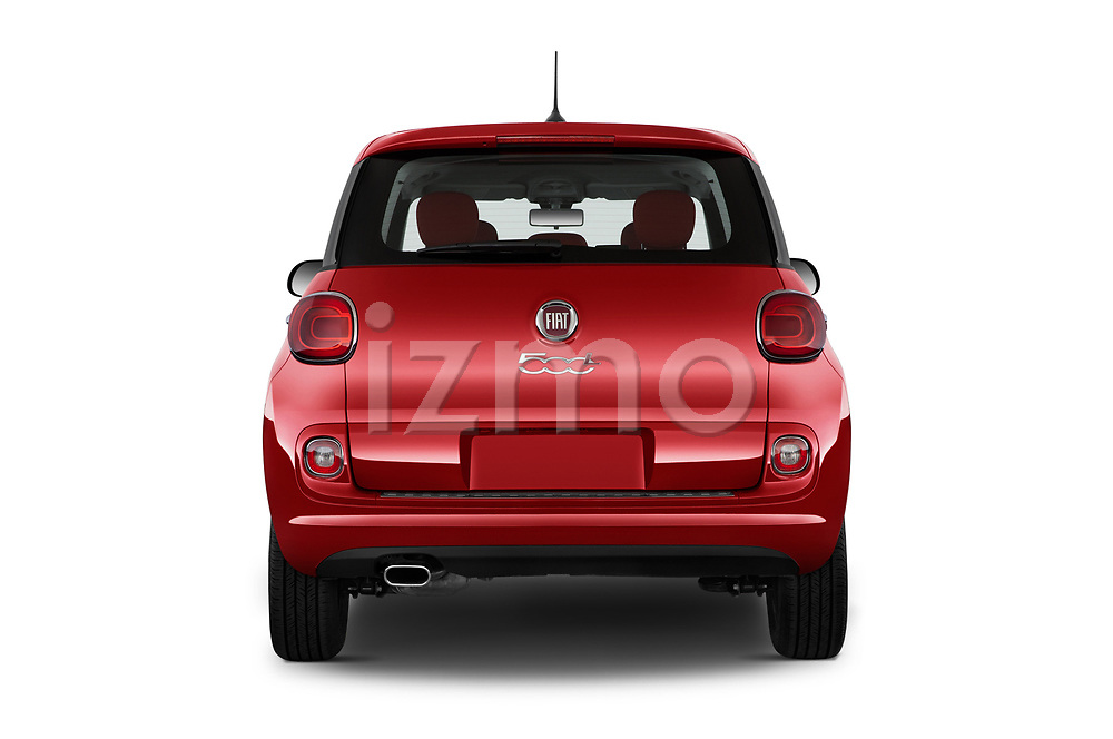 Straight rear view of a 2017 Fiat 500L Hatchback