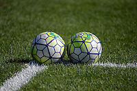 Kansas City, MO - Sunday September 04, 2016: Soccer Balls prior to a regular season National Women's Soccer League (NWSL) match between FC Kansas City and the Sky Blue FC at Swope Soccer Village.